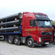 Delivery of water pipes to Devon &amp Cornwall